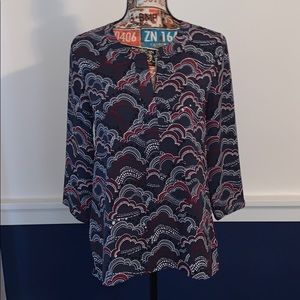 Express blouse with front zipper